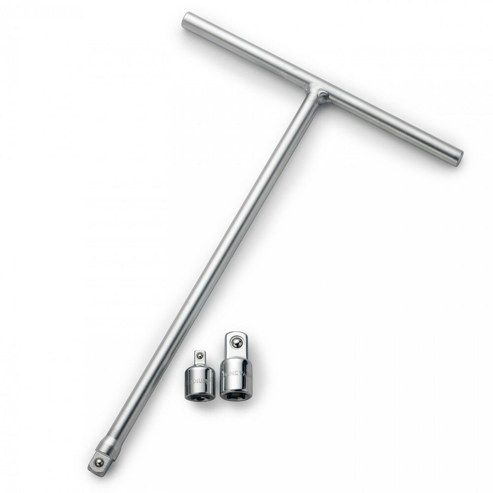 Neiko 3 8 Quot T Handle Long Reach Wrench W 2 Adapters Ebay