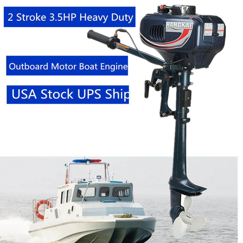 3 5hp boat engine outboard motor two stroke w water Two stroke outboard motors