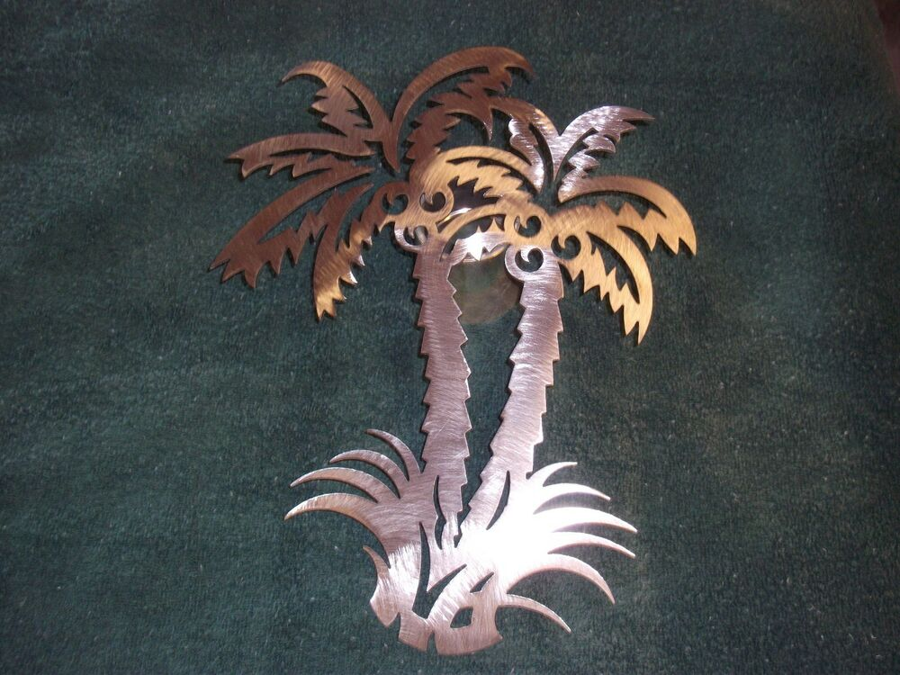 Palm Tree Metal Wall Art Home Decor