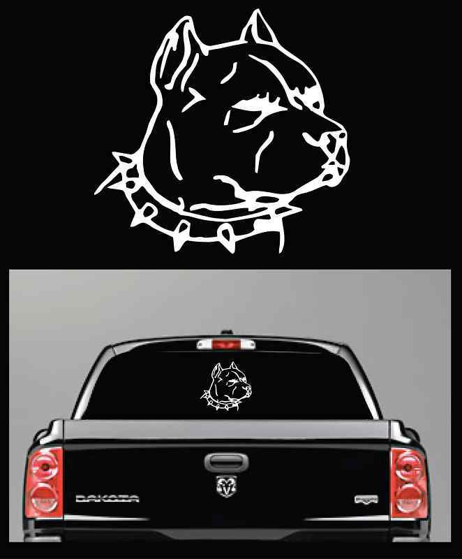 Pitbull truck car decal window decals sticker 9 1 2 tall for Getting stickers off glass