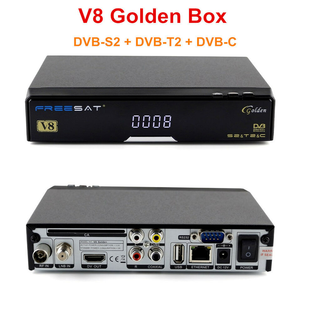 freesat v8 golden 1080p full hd dvb s2 t2 c digital satellite tv receiver iptv ebay. Black Bedroom Furniture Sets. Home Design Ideas