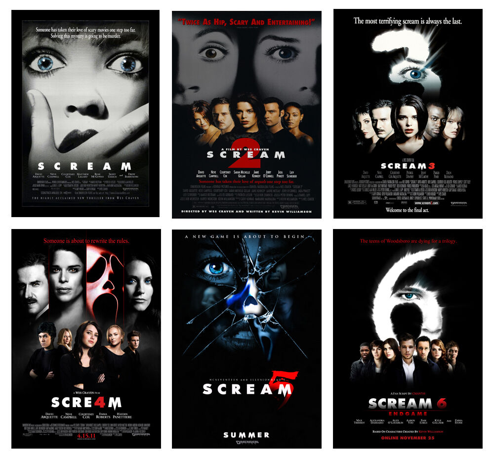 Horror Movie Scream POSTER OPTIONS A3 A4 WALL ART BUY 1 ...