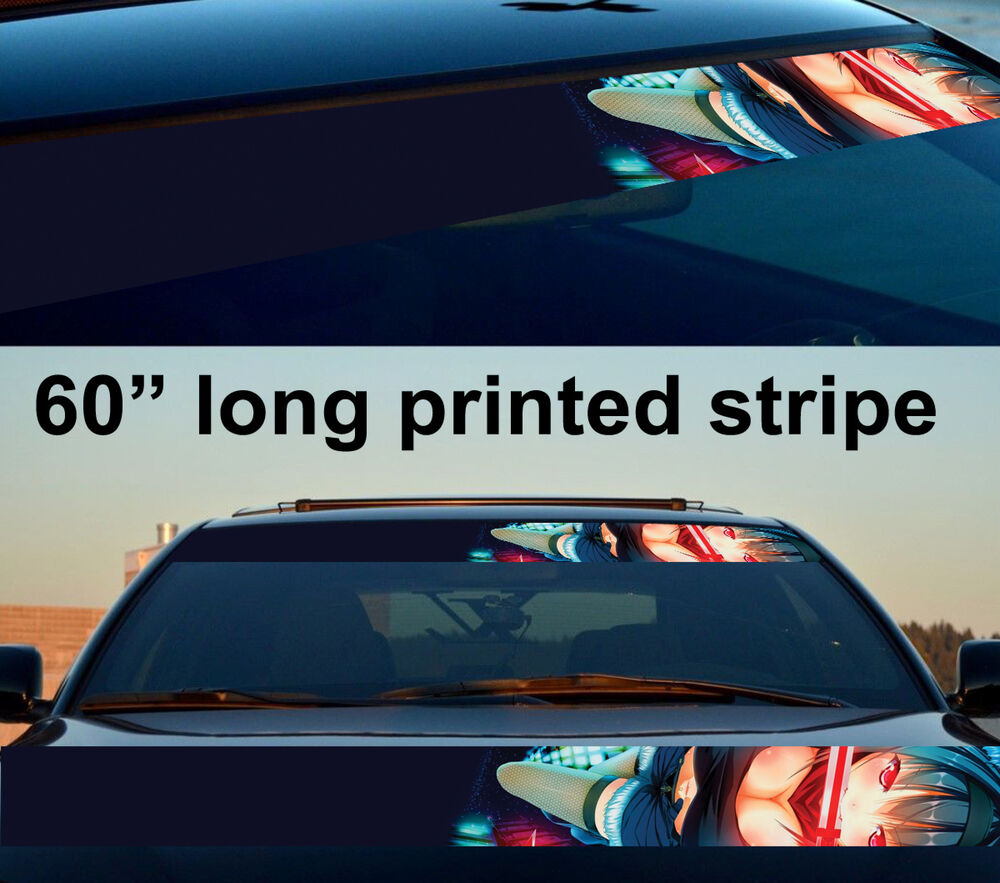 60 Quot Sexy Hot Japan Anime Girl Strip Printed Windshield Car