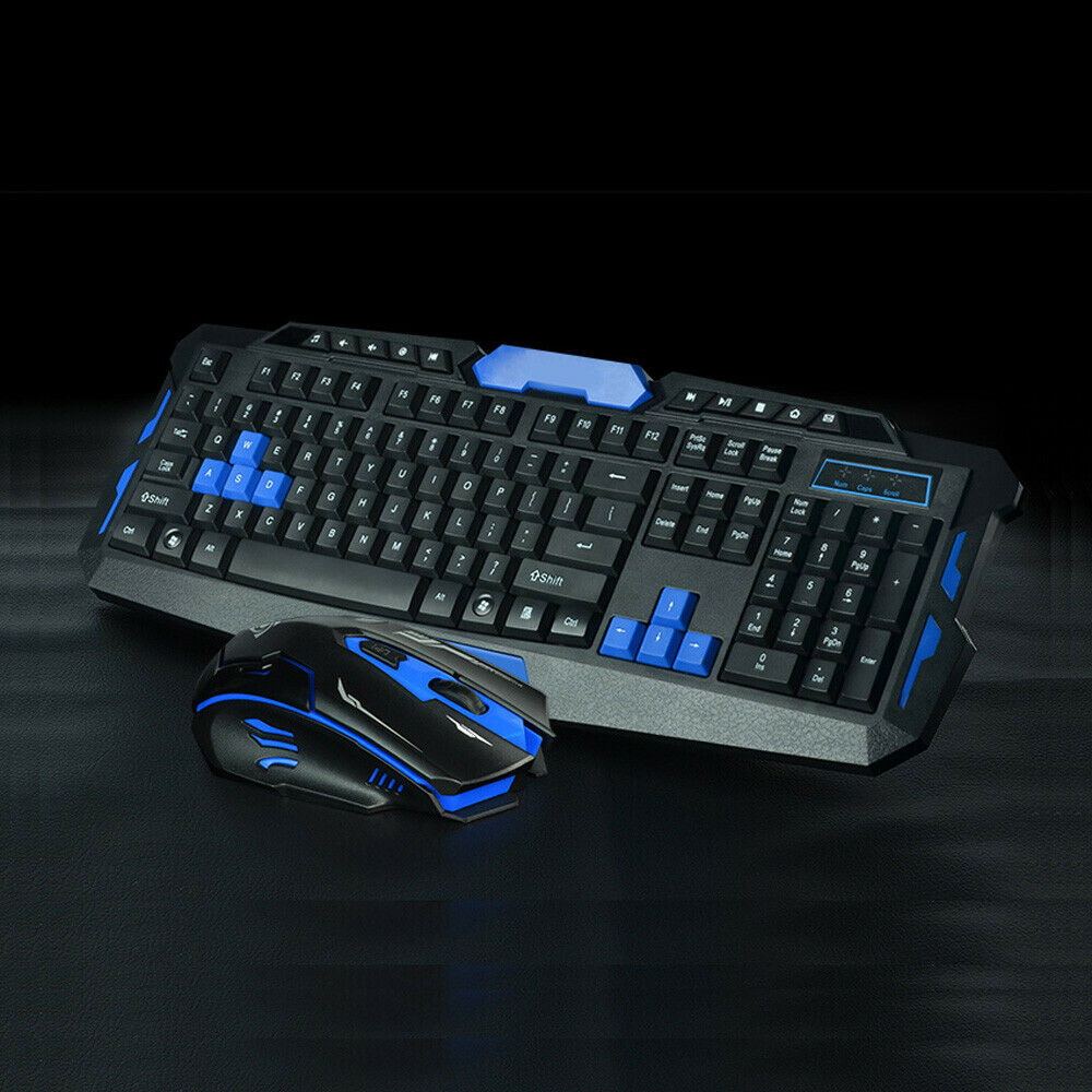 39e52e002f2 Details about 2.4G Gaming Multimedia Cordless Keyboard Wireless Optical  Mouse Combo