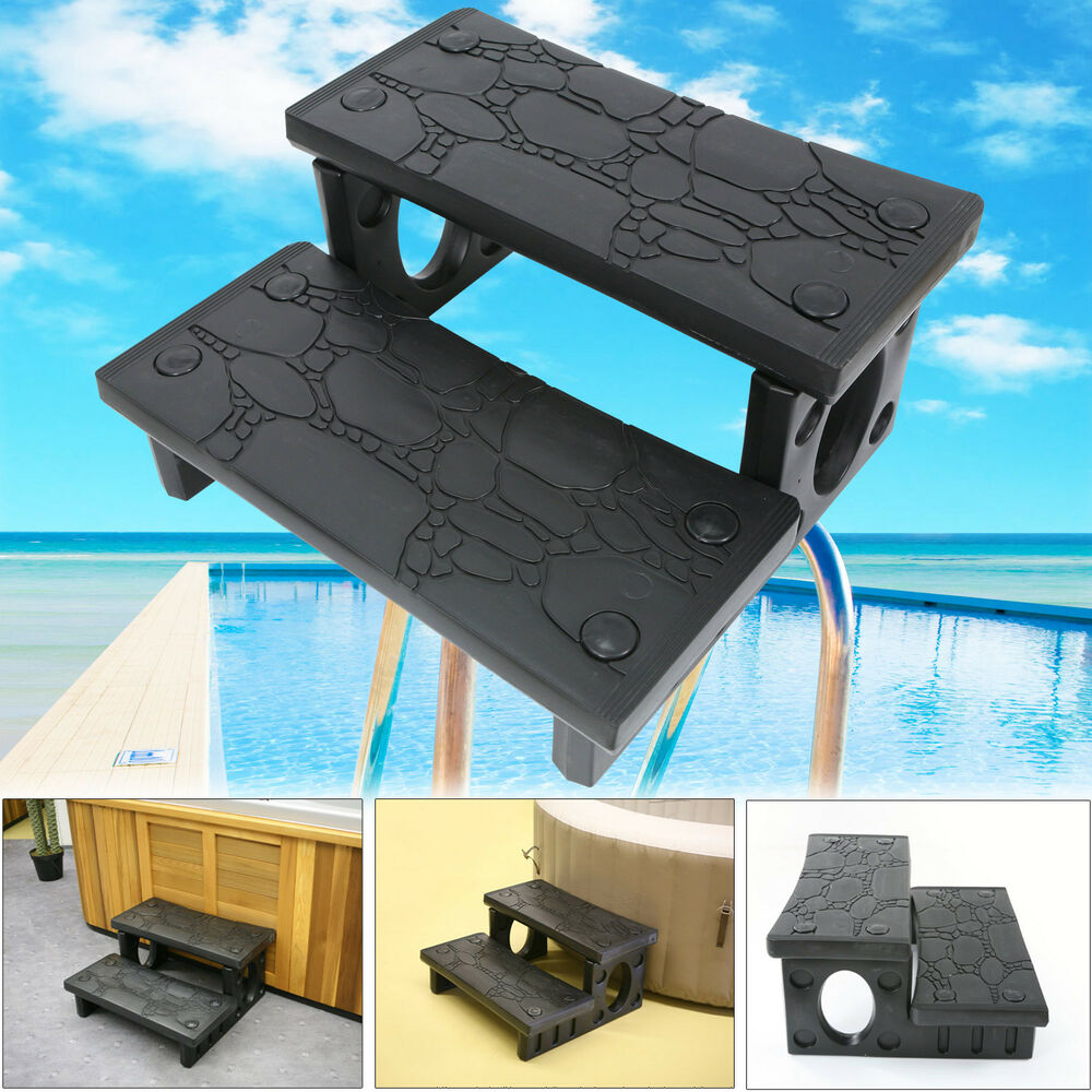 treppe f r whirlpool stufe pool aufgang doppelstufe stiege pool leiter ebay. Black Bedroom Furniture Sets. Home Design Ideas