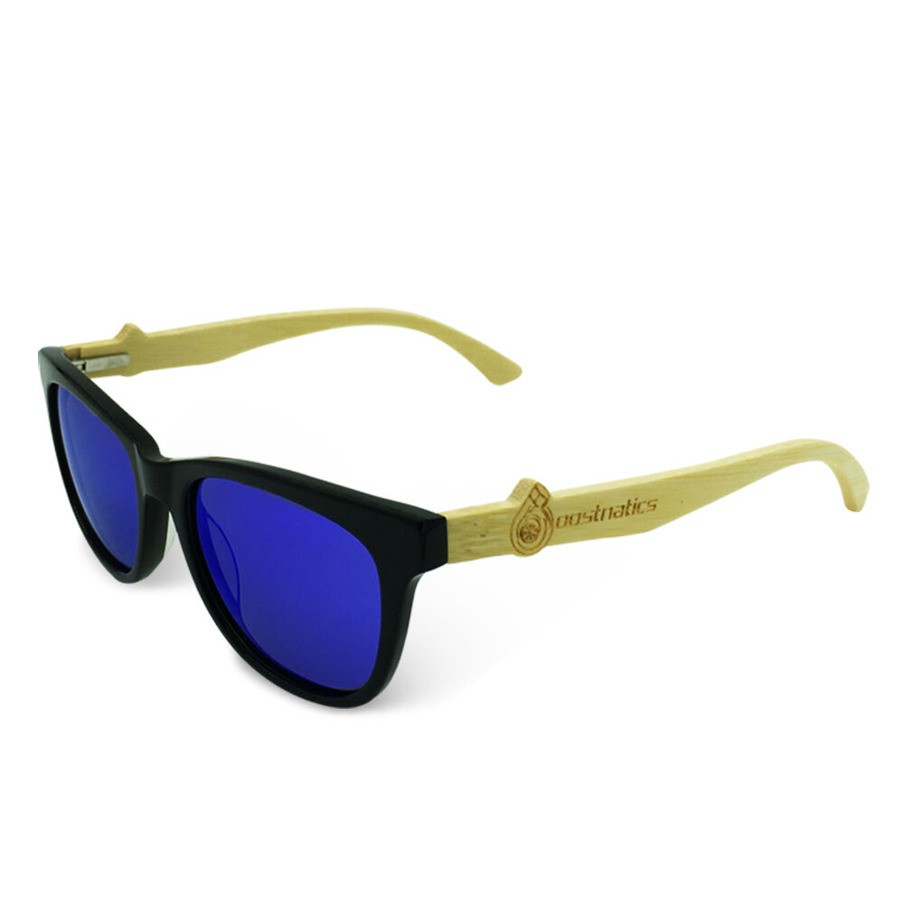 d98fdc80494e Details about Boostnatics Bamboo Boosted Turbo Shades Sunglasses - Black    Polarized Blue