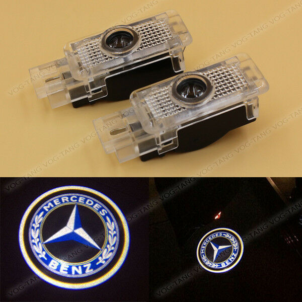 2x led welcome ghost laser door light for mercedes benz c for Mercedes benz door lights