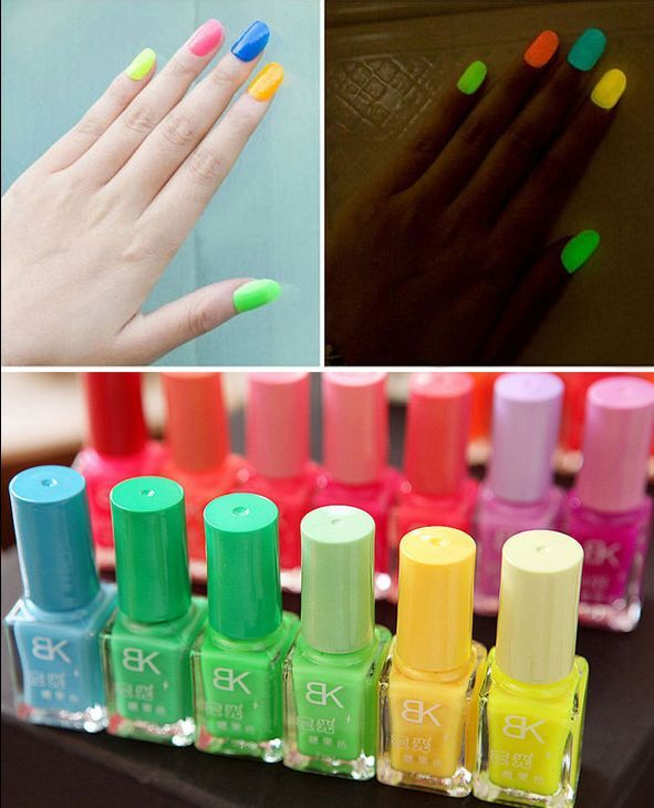 Fluorescent Neon Pink Nail Polish: Glow In The Dark Neon Fluorescent Nail Polish Varnish