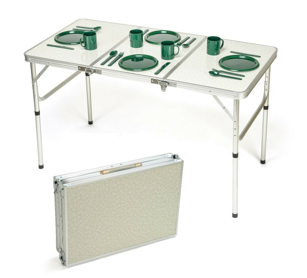 Portable Adjustable Lightweight Aluminum Folding Table By