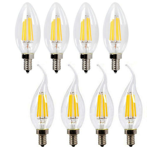 Cleveland Vintage Lighting Edison Flame Candelabra Bulbs: Dimmable E12 LED Filament Candelabra Light Bulb Chandelier