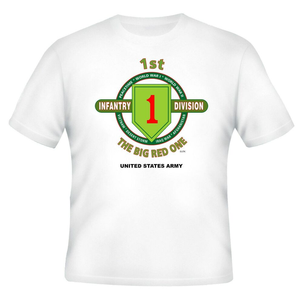 60f6c4ede50 Details about 1ST INFANTRY DIVISION   VIETNAM VETERAN ARMY UNIT   OPERATION  2-SIDED SHIRT
