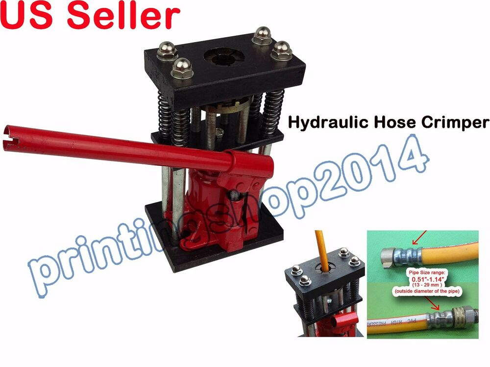 newly hydraulic hose crimper 6t hand tool 13 29 mm pipe ebay. Black Bedroom Furniture Sets. Home Design Ideas