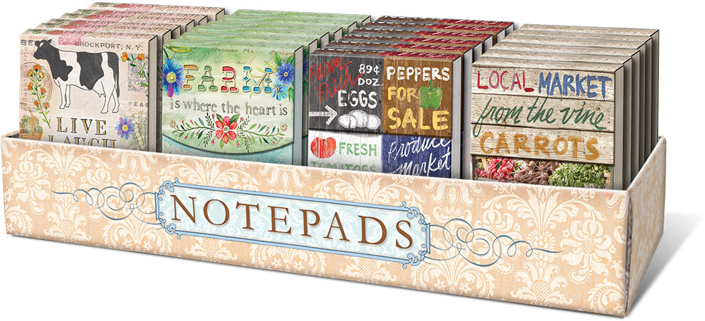 Punch Studio Farm To Table Pocket Note Pads Various
