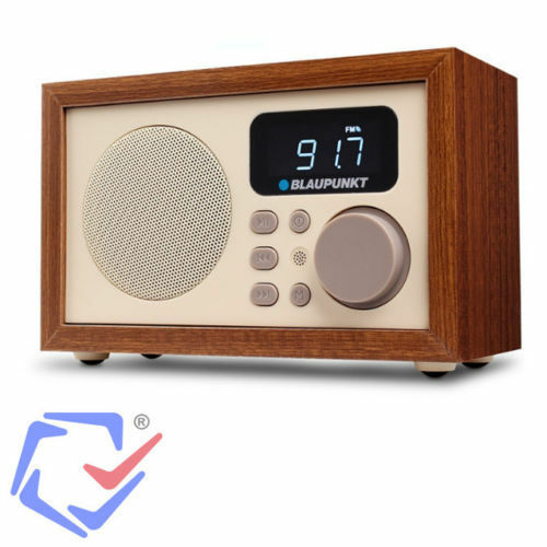 radio wecker retro anlage digital mit holzgeh use lcd fm mp3 microsd usb aux ebay. Black Bedroom Furniture Sets. Home Design Ideas