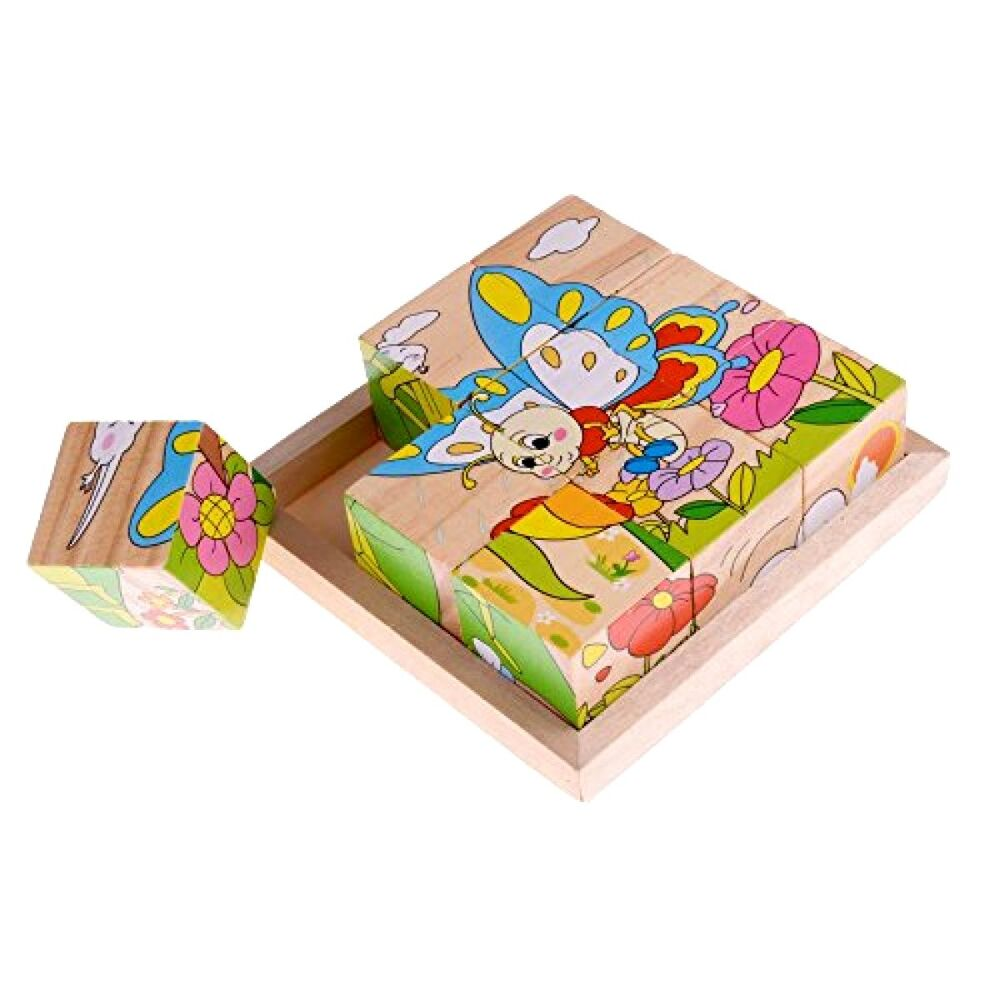 Toys For Ages 1 2 : Rolimate insects wooden block jigsaw puzzles toy for