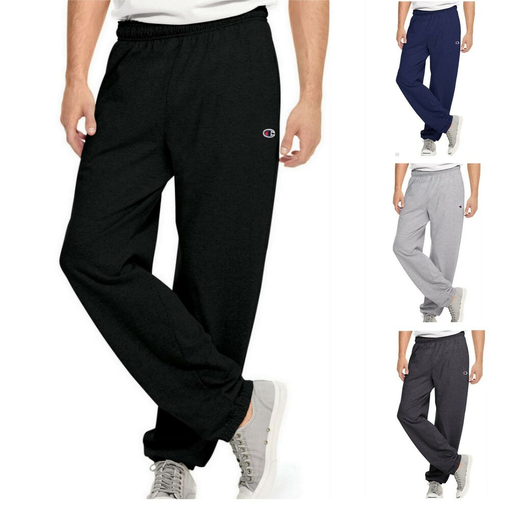 6880101f4431 Details about Men s Athletic Pants by CHAMPION w  Pockets Size S - 2XL P7310