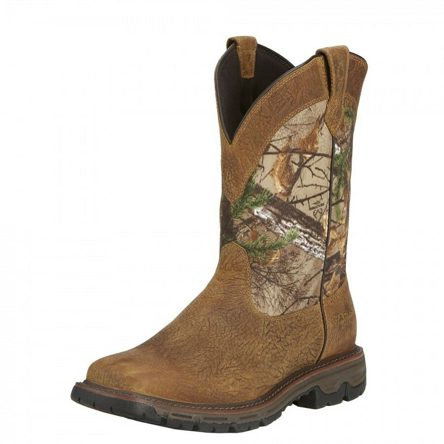 Men S Ariat Waterproof Conquest Real Tree Xtra Western