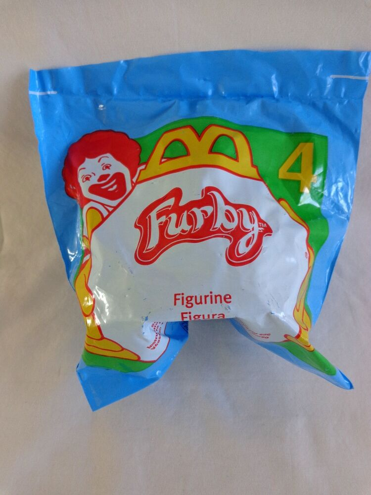 McDonalds FURBY Figurine 4 Happy Meal Toy 1998 Tiger ...
