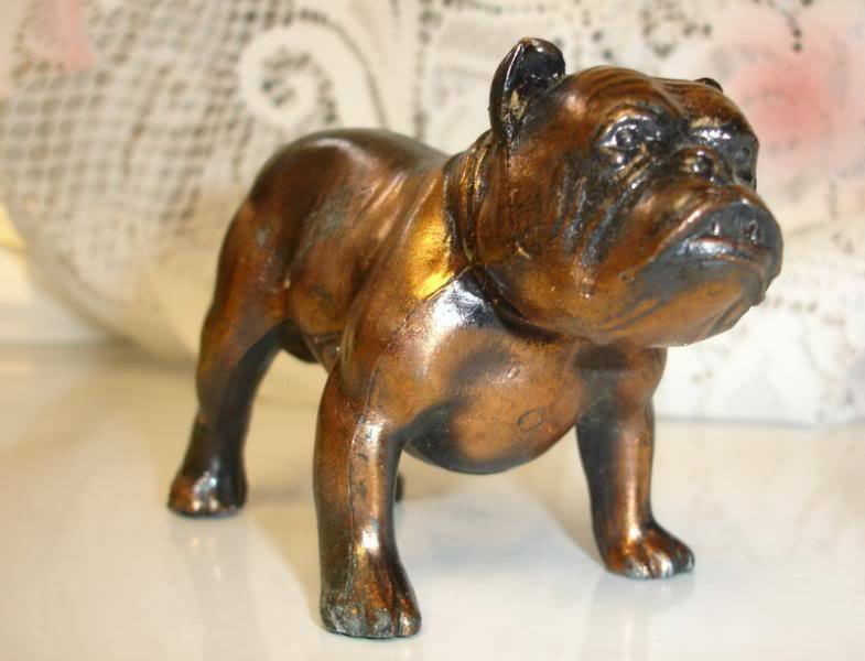 english bulldog figurine vintage bronze tone cast metal english bulldog figurine ebay 2197