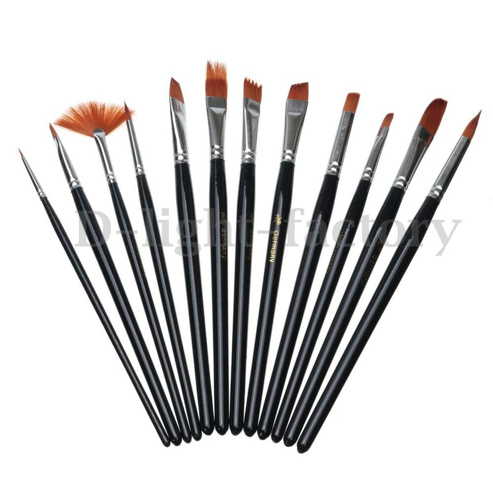 ARTIST PAINT BRUSH SET ACRYLIC WATERCOLOR OIL PAINTING ...
