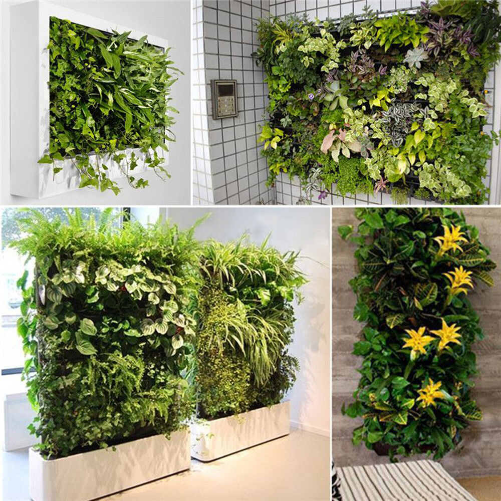 56 pocket indoor outdoor balcony herb vertical garden wall hanging planter bag ebay. Black Bedroom Furniture Sets. Home Design Ideas