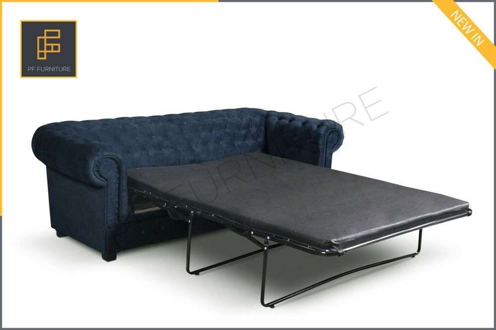 brand new imperial chesterfield 2 seater sofa bed fabric ebay. Black Bedroom Furniture Sets. Home Design Ideas