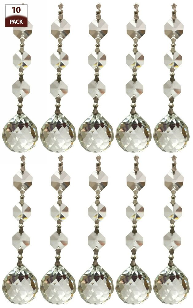10 Pack Chandelier Replacement Crystal Prism Clear Faceted ...