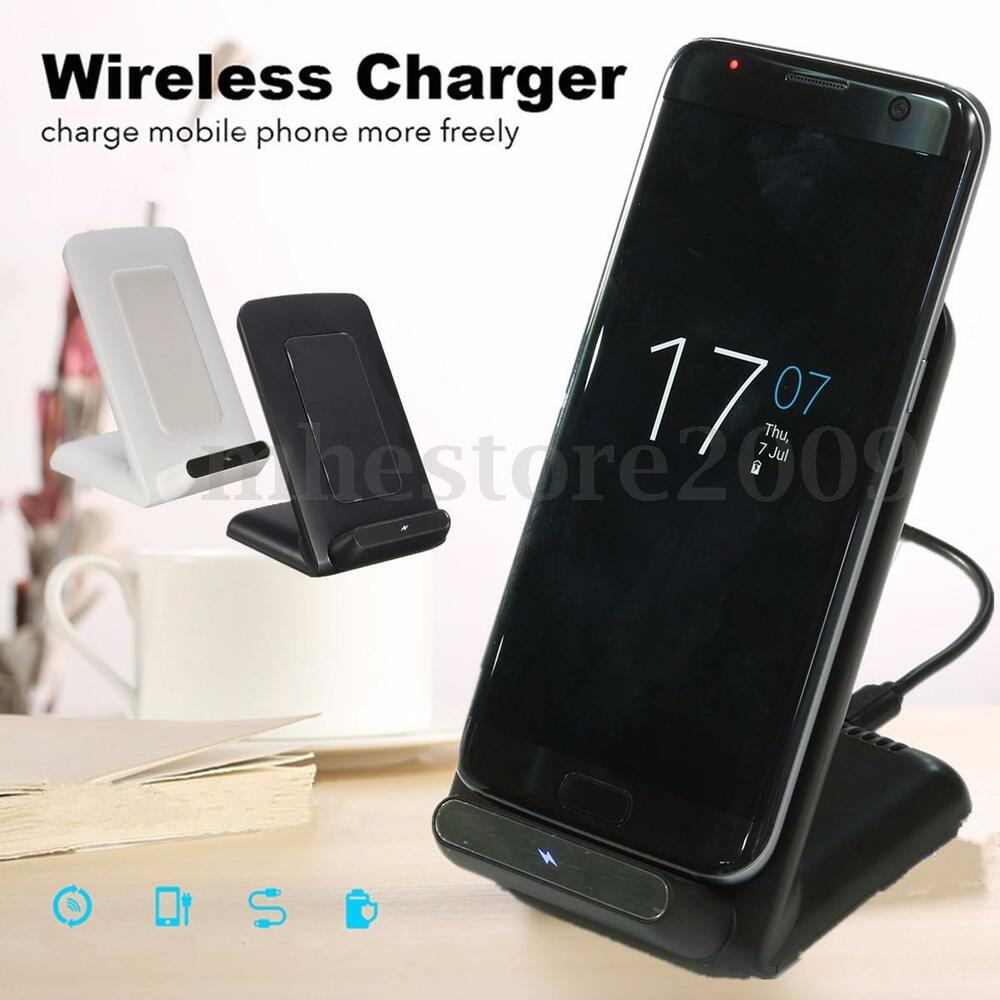2 coils qi wireless charger charging pad for iphone x. Black Bedroom Furniture Sets. Home Design Ideas