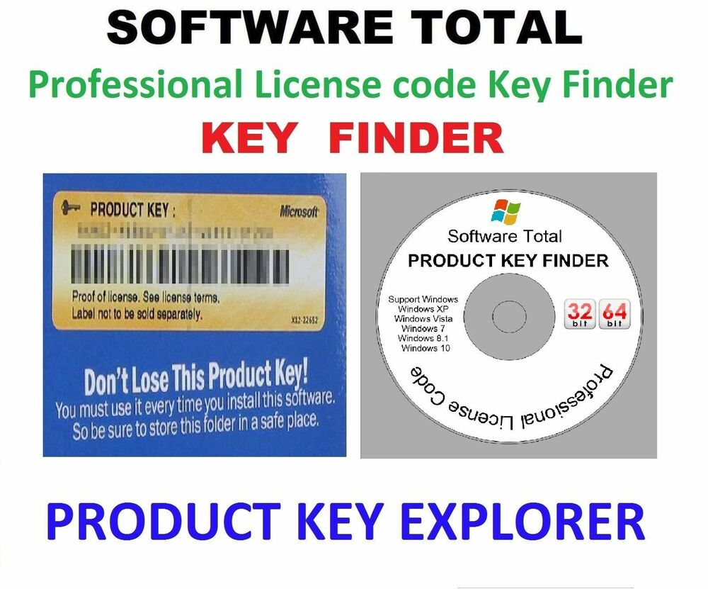 Professional License code , Key Finder , Window XP, Vista ...