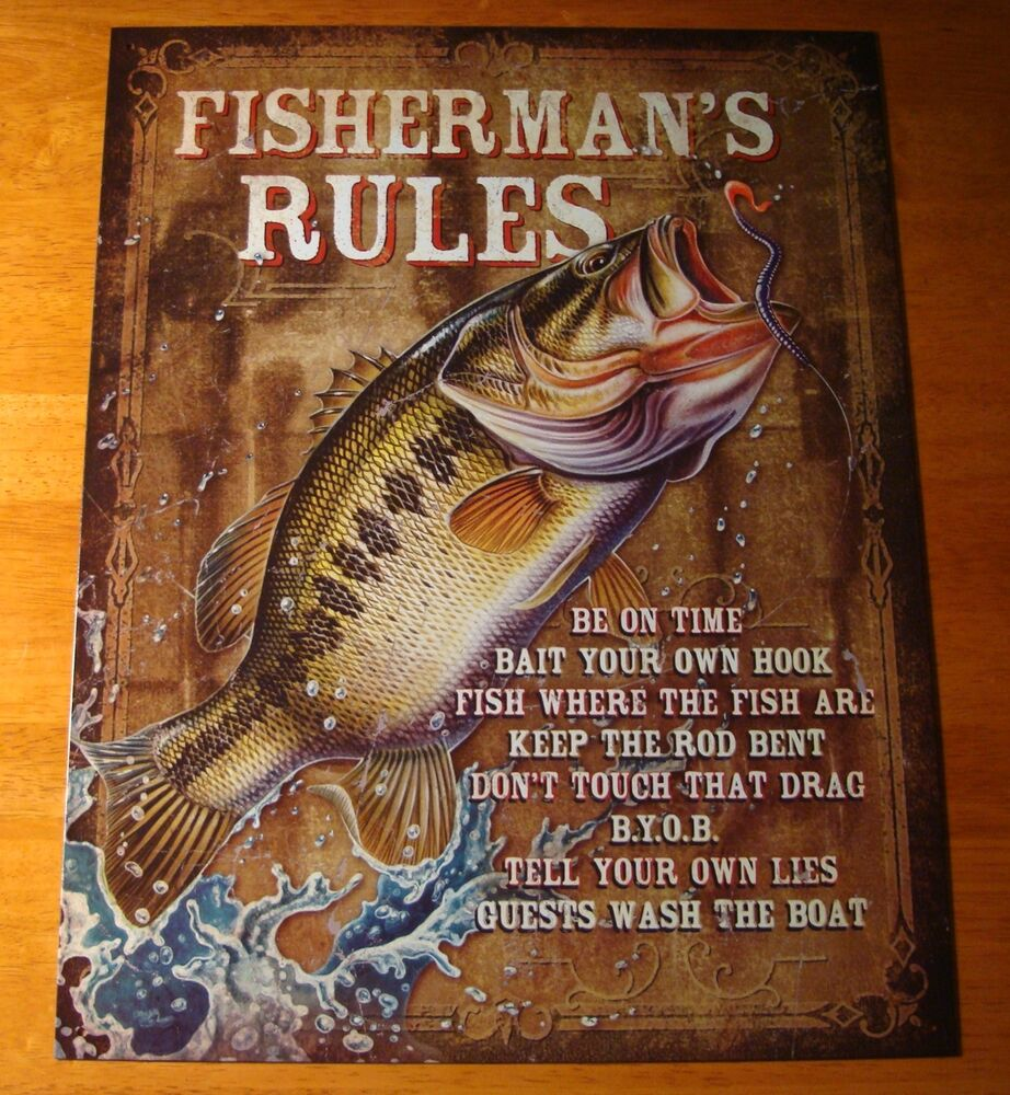 fisherman rules rustic fishermen cabin fishing lodge home