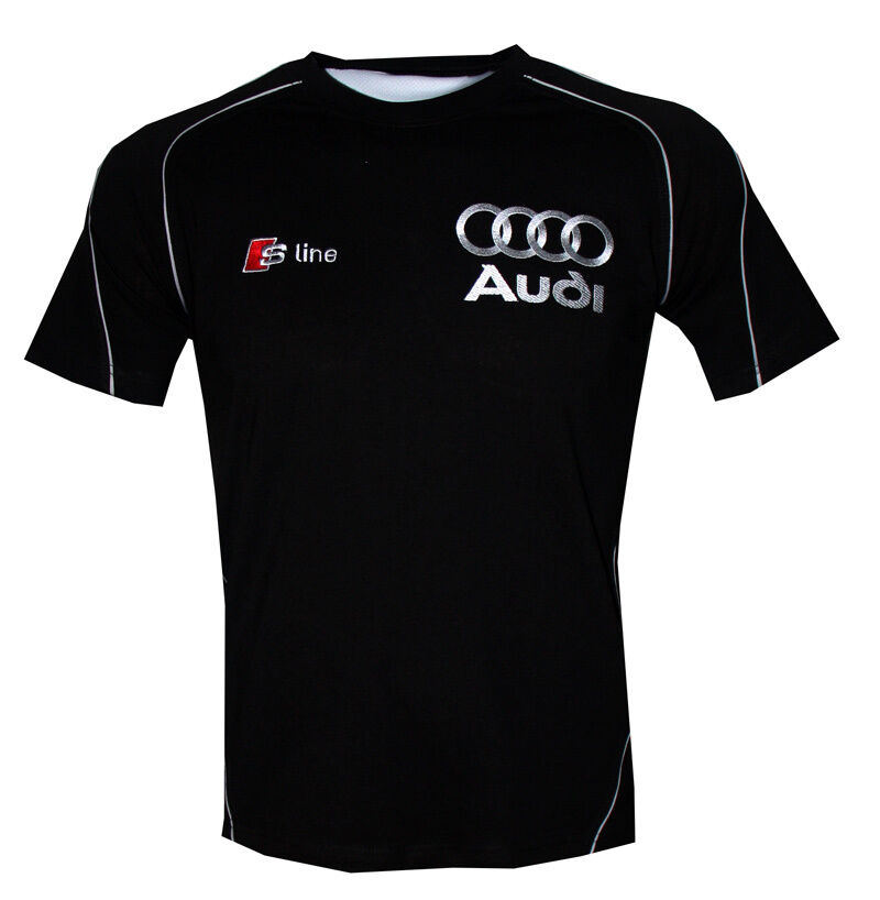 audi s line t shirt embroidered logos dtm gt3 racing. Black Bedroom Furniture Sets. Home Design Ideas