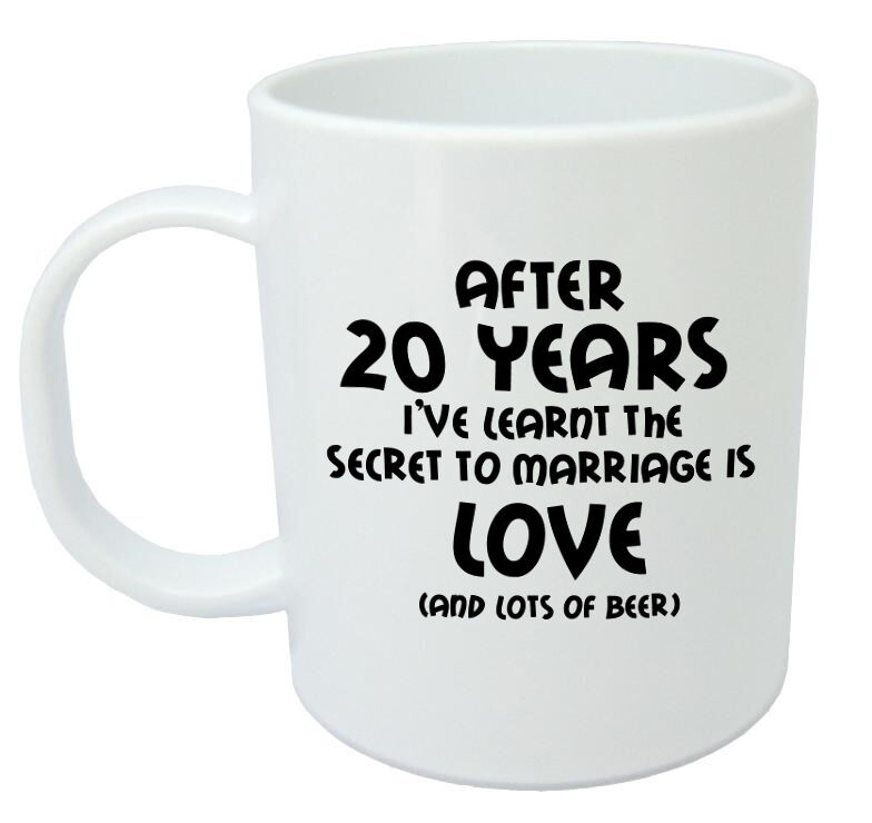 After 20 Years Ive Learnt Mug 20th Wedding Anniversary Gifts For Men