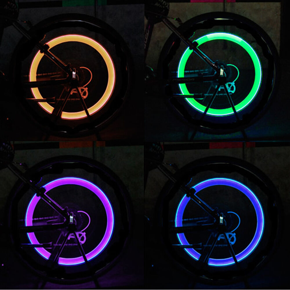 bike bicycle car motorcycle wheel tire valve stem cap neon led lights lamp ebay. Black Bedroom Furniture Sets. Home Design Ideas