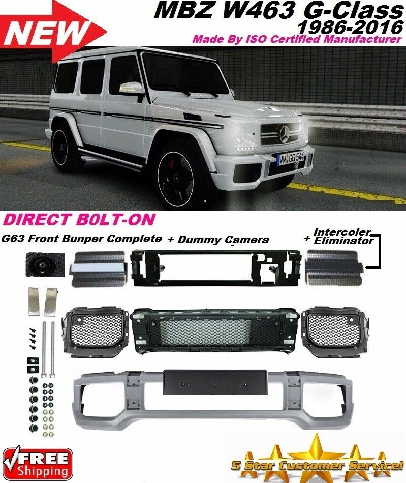 02 16 mercedes amg style w463 g63 front bumper cover g55 for Mercedes benz g500 parts accessories