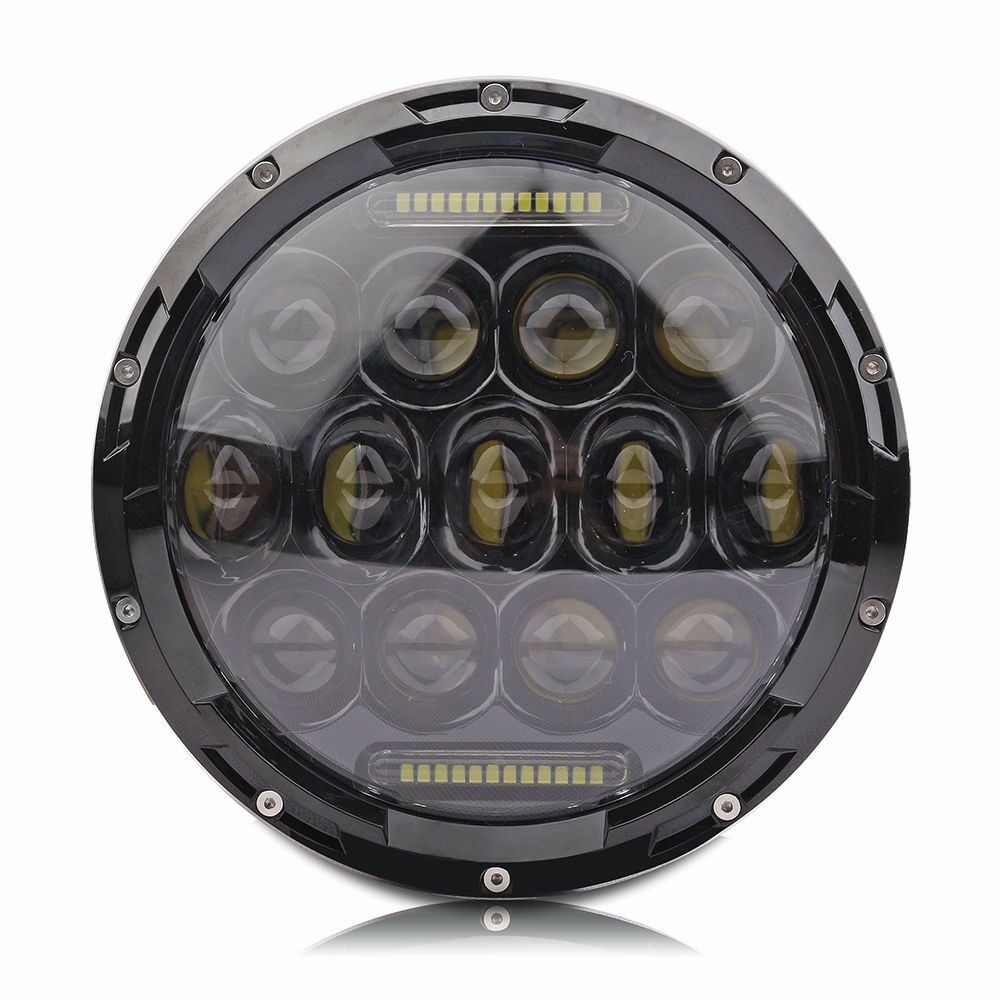 7 Inch 75W Hi/ Lo LED Car Headlight DRL 12V 24V Driving Light for Jeep Hummer Camaro FJ, Round LED Worklight bulb for Jeep
