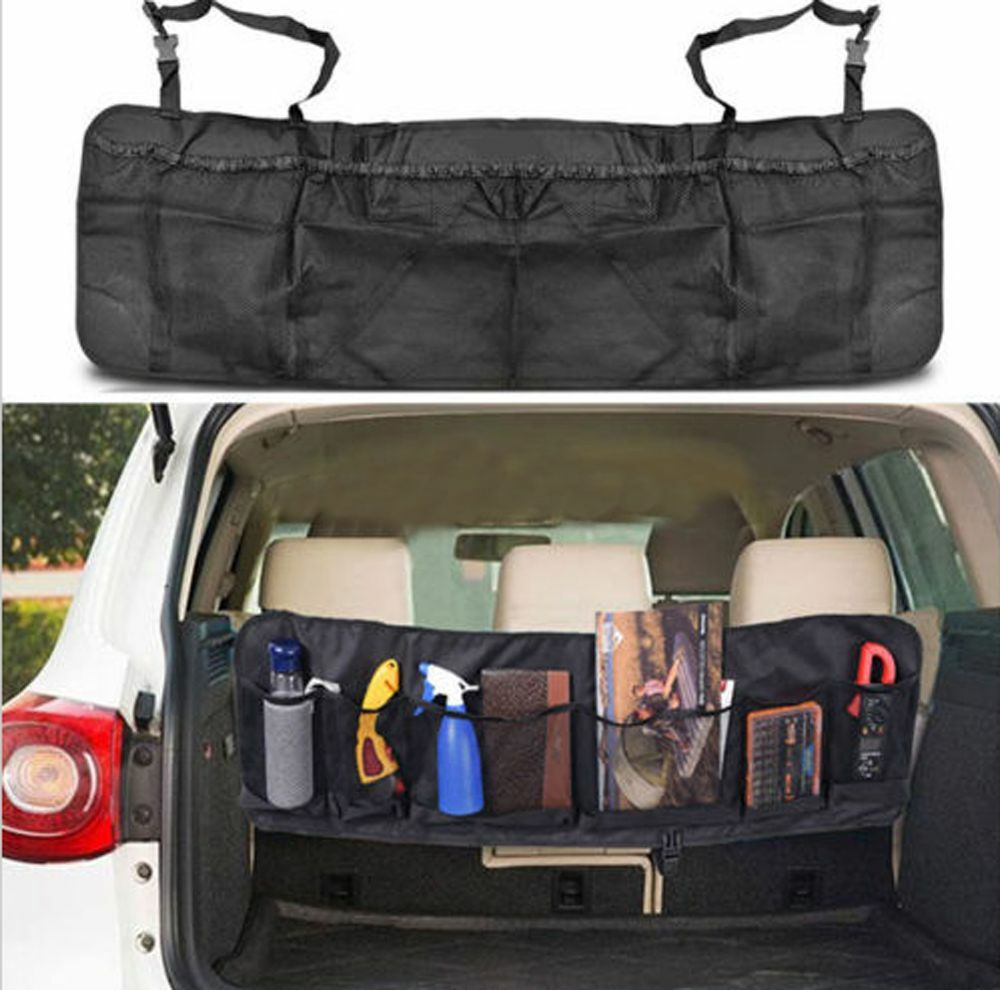 car seat back storage organizer interior multi use multi pocket bag accessory ebay. Black Bedroom Furniture Sets. Home Design Ideas