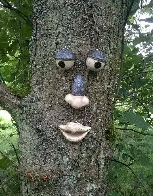 Garden Tree Face Novelty Garden Ornament Decoration Funny