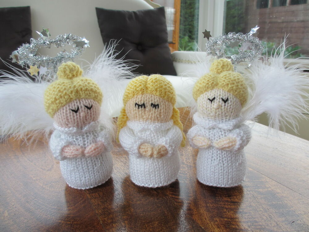 **Knitting Pattern Only** Christmas Angel Toy Knitting ...