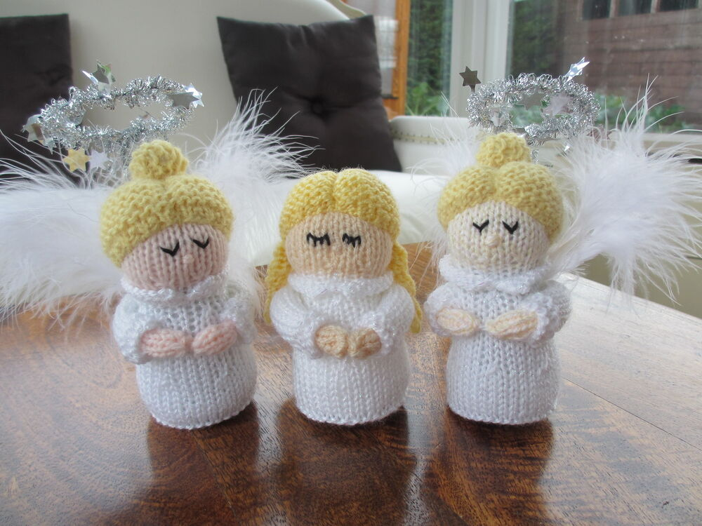 Knitting Patterns Christmas Toys : **Knitting Pattern Only** Christmas Angel Toy Knitting Pattern eBay