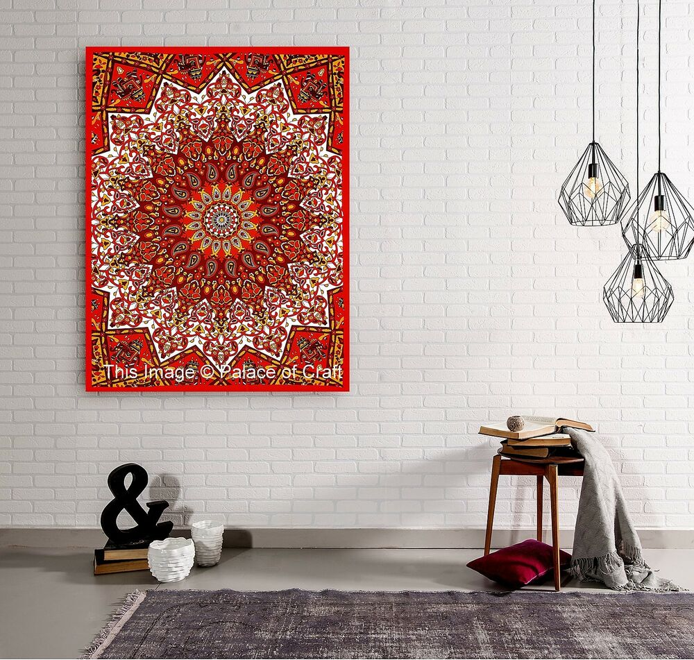 Wall Decoration Cloth : Star mandala wall hanging indian poster tapestry bohemian