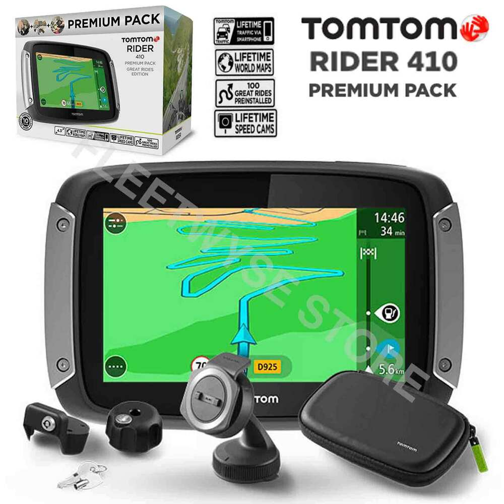 tomtom rider 410 great rides premium pack gps motorcycle. Black Bedroom Furniture Sets. Home Design Ideas