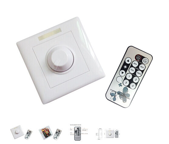 Led Strip Light Wall Dimmer: AC90V-240V Wall-mounted Switch LED Light Dimmer Modulator