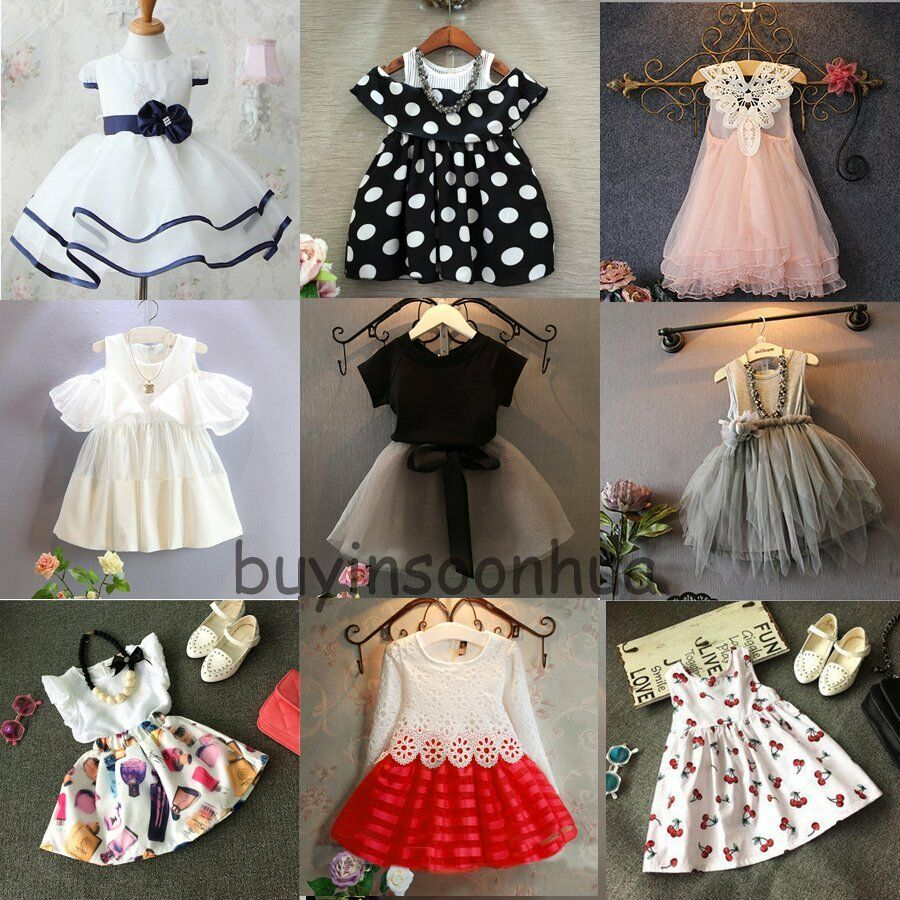Flower Girl Princess Dress Kid Baby Party Wedding Pageant ...