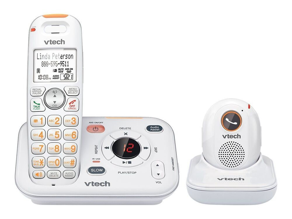vtech sn6187 careline cordless telephone system portable safety pendant new ebay. Black Bedroom Furniture Sets. Home Design Ideas