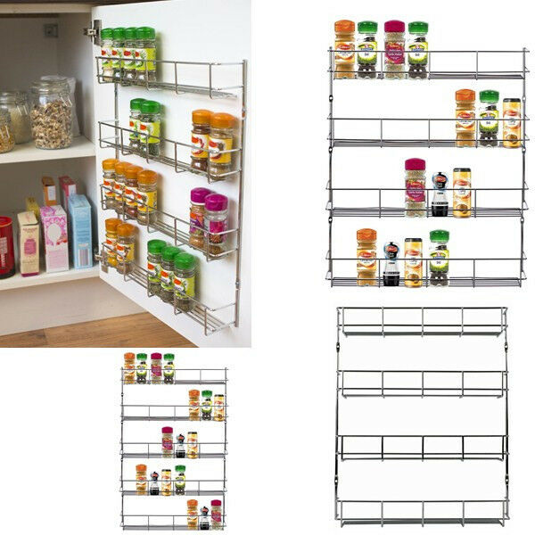 Kitchen Cabinet Spice Racks: New Kitchen Cabinet Wall Mount Storage Shelf Pantry Holder