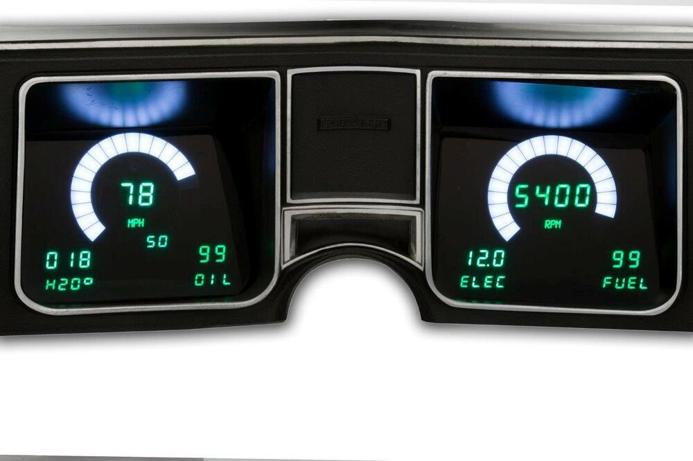 Digital Gauge Cluster : Chevelle digital dash instrument gauge cluster blue