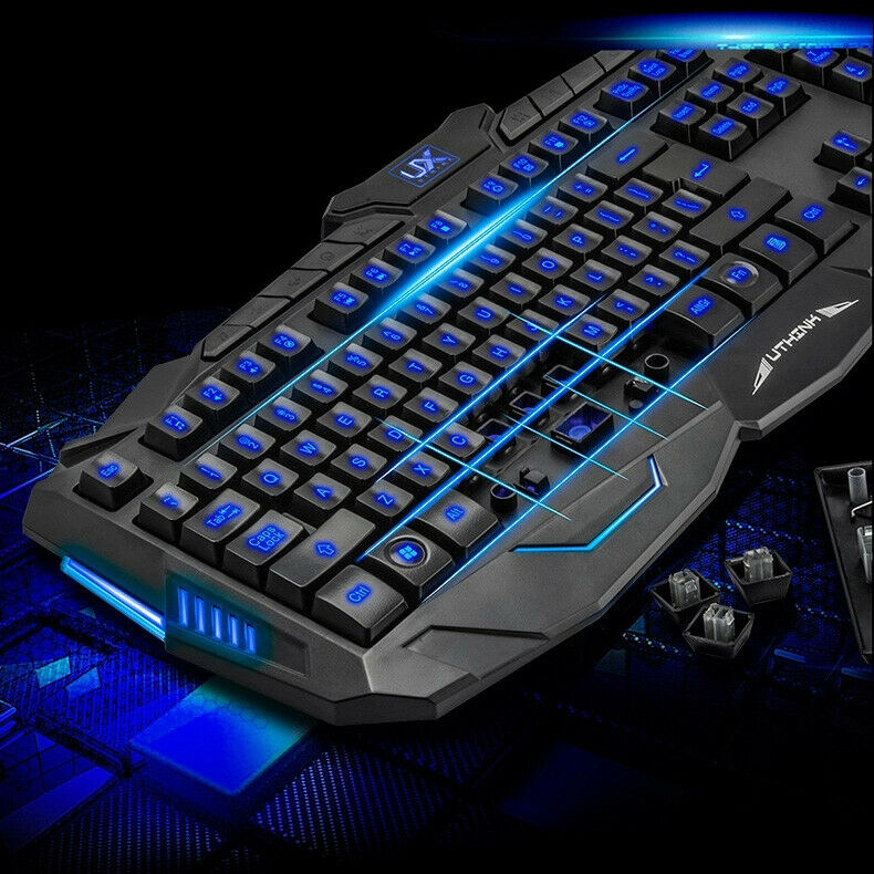Aninimal Book: Gaming Keyboard and Mouse Set Kit USB for Computer PC ...