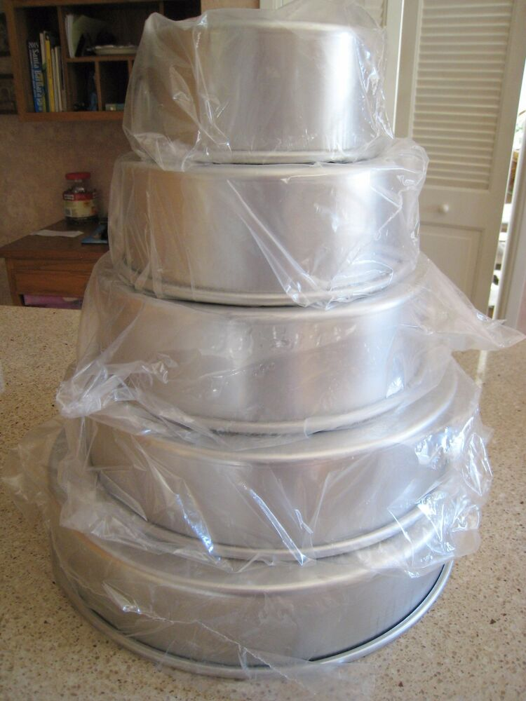 professional wedding tier cake pans 6 8 10 12 14 quo