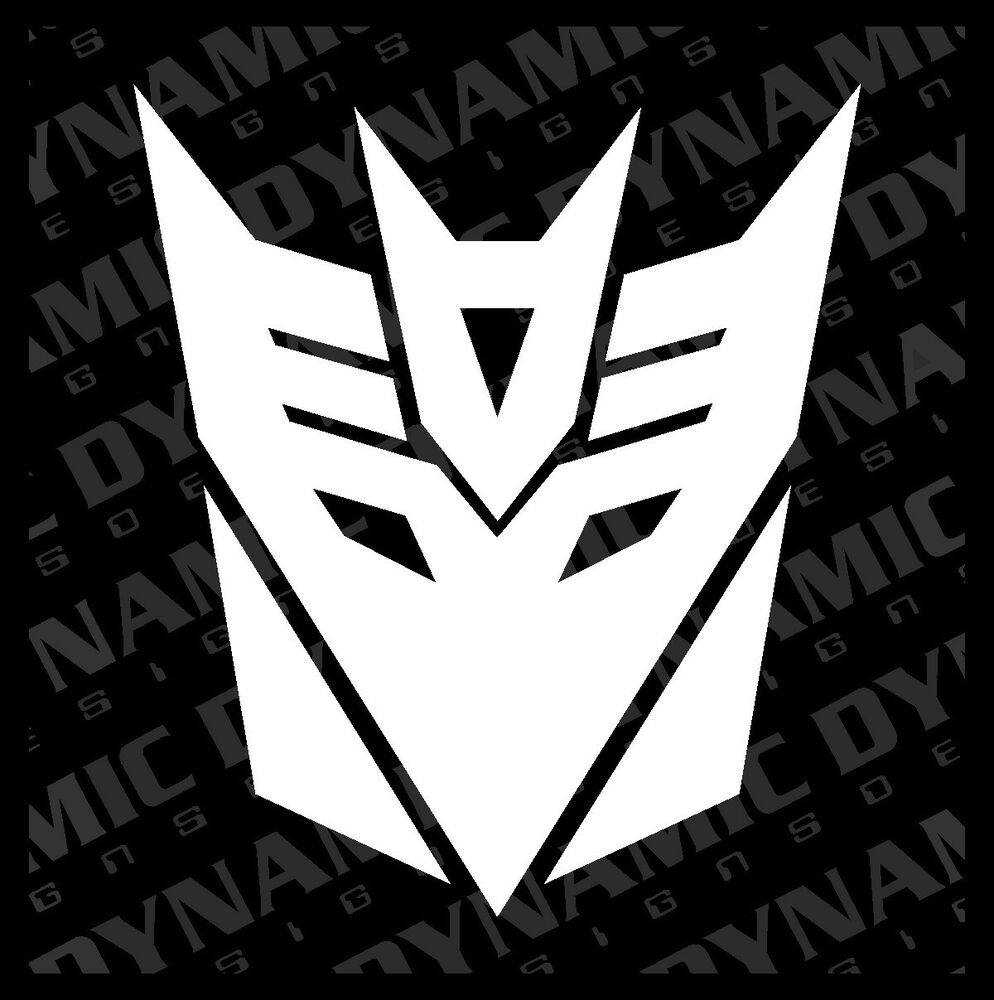 Decepticon Logo Black Large Transformers Dec...