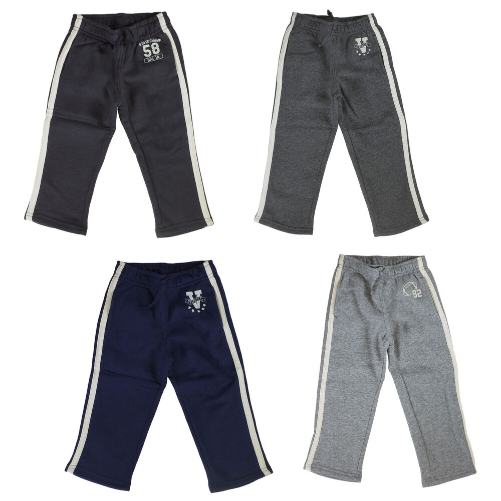 Our sweatpants for toddlers collection features a wide variety of classic activewear designs including jersey-fleece pants. Our colorful jersey-fleece pants are made from a durable cotton blend and include elasticized, pull-on waistbands and hand-warming pockets on the side seams.